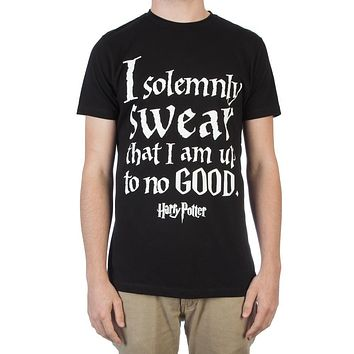MPTS Harry Potter Hogwarts Marauder's Map I Solemnly Swear That I Am Up To No Good Men's Black T-Shirt