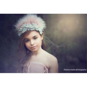 Feather Crown-photoprop-flower girl-hair accessories-Kathy