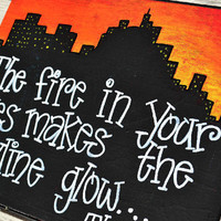 Fire in Your Eyes Quote on 12x16 Canvas Panel by HandyQuotes