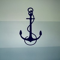 Nautical Anchor - Vinyl Wall Decal Home Decor Art Graphics Stickers