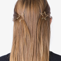 Gold Star Barrette Hair Clip