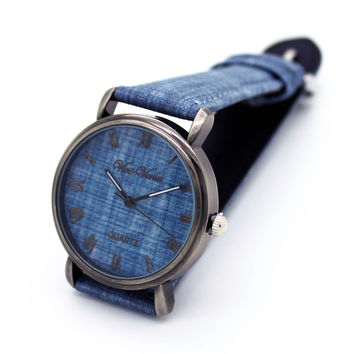 Demin strap watch (4 colors)