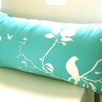 Mint Flying By Rectangle Pillow