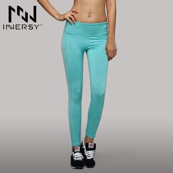 VONEUG4 Innersy Patchwork High Elasticity Candy-colored Woman Running Dance Fitness Yoga Pants Super Breathable Yoga Leggings Jzh93
