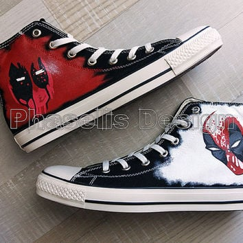 Deadpool Custom Painted Shoes