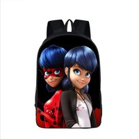 Anime Printing School Bag Miraculous Ladybug Backpack Marinette School Backpacks Cat Noir Backpack For Children Fashion Book Bag