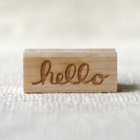 Rubber Stamp - Hello