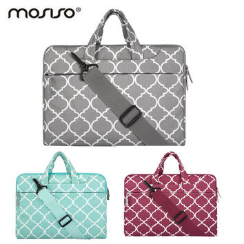 MOSISO Canvas 11.6 13.3 15.6inch Laptop Shoulder Bag Case For Macbook Pro Air 11 13 14 15inch Asus Notebook Handbag Cover Female