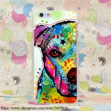 Pitbull  Star/yellow/Pink/Blue Case for iPhone 7 7 Plus 6 6S Plus 5 5S SE 5C 4 4S