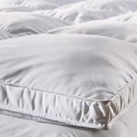 "Fully Reversible (Double Life)-1"" Down Alternative Mattress Topper-Olympic Queen"