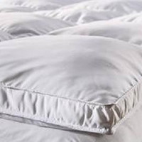 "Fully Reversible (Double Life)-1"" Down Alternative Mattress Topper / Pad- w/ Stay Tight Anchor Straps - CALIFORNIA QUEEN"