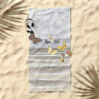 Butterfly escape Beach Towel by anipani