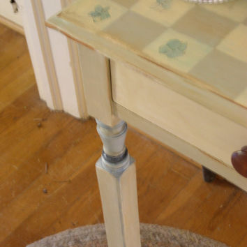 Hand Painted Furniture Cottage Farmhouse End Table