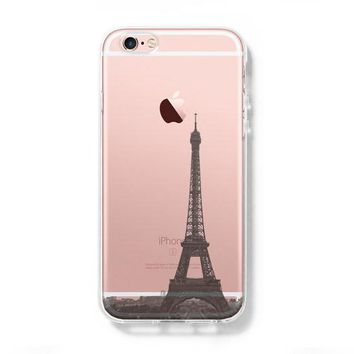 Eiffel Tower Paris France iPhone 6s Clear Case iPhone 6 plus Cover iPhone 5S 5 5C Hard Transparent Case C021
