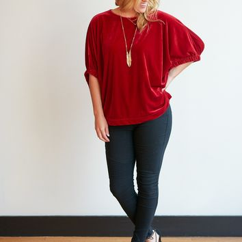 Very Velour Tunic Top - 2 Colors!