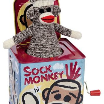 Classic Schylling Sock Monkey Jack in the Box