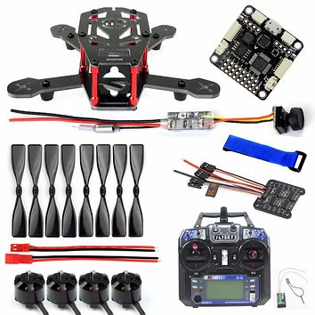 Unassembled Kit DIY Mini Indoor Racer H150 150mm Carbon Fiber Racing Quadcopter with 6CH Transmitter F3 CC3D Flight Controller