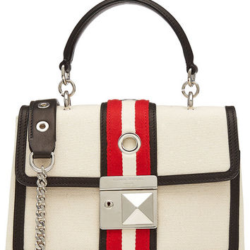 Canvas Shoulder Bag with Leather - Sonia Rykiel | WOMEN | US STYLEBOP.COM