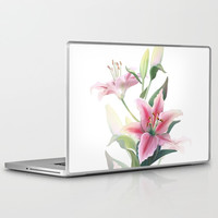 Lilium Laptop & iPad Skin by printapix