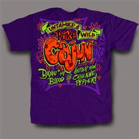 Sweet Thing Funny Pure Cajun Wild Neon Purple Girlie Bright T-Shirt