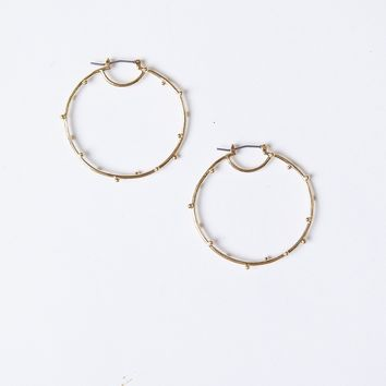 Heart Of Gold Hoop Earrings