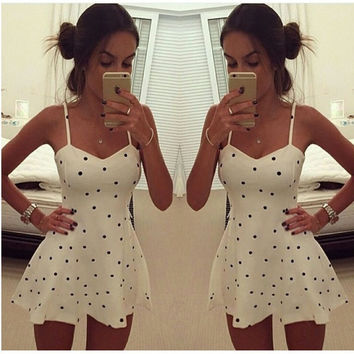 Sexy Women Summer Beach Lace Sleeveless Party Evening Cocktail Skater Mini Dress = 1932734084