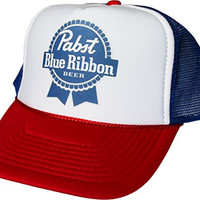 Pabst Blue Ribbon PBR Beer Mesh Trucker Hat