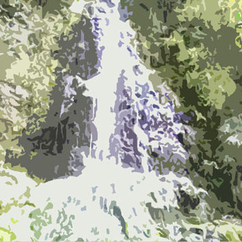 Rushing Waterfall Acrylic Popart Painting Free Shipping in the US