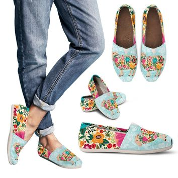 Floral Sheep Casual Shoes