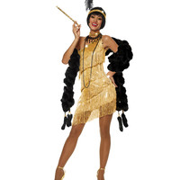 Dazzling Gold Flapper Costume