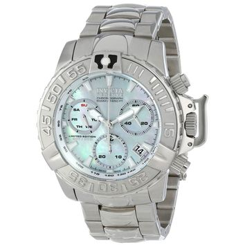 Invicta 15095 Men's Subaqua Noma II Reserve MOP Dial Steel Bracelet Chronograph Dive Watch