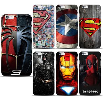 Deadpool Dead pool Taco Superhero Collection  Spiderman Phone Case for capinhas iphone 8 7 6s Plus 5SE Ironman Batman Marvel Covers Accessories AT_70_6