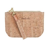 CORK ZIP WALLET GOLD