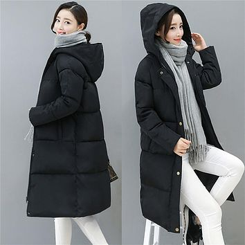 Women Down Coat Jacket Long Length Woman Down Parka With A Hat Fashion Winter Coat Girl Winter Collection YR0008