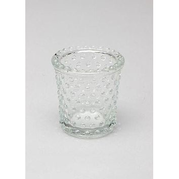 "Heirloom Hobnail Glass Votive Candle Holder - 3"" Tall"