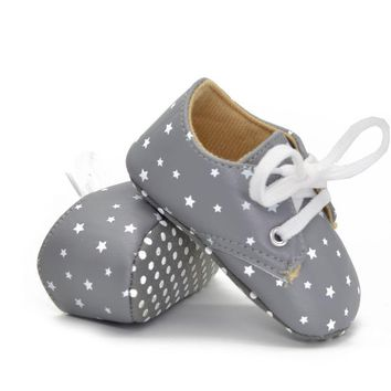 Baby Infant Girl Boy White Toddler Soft Sole Crib Shoes Sneaker Size 0-18M SL01