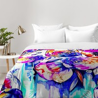 Holly Sharpe Sunrise Flowers Comforter