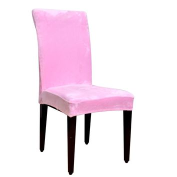 Winter Velvet Fashion Design chair covers Household detachable universal elastic chair cover hotel chair covers