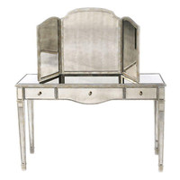 Rosalyn Vanity & Dressing Mirror, Silver, Vanities & Dressing Tables