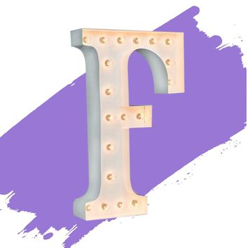 """24"""" Letter F Lighted Marquee Letters (White Gloss)"""