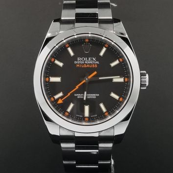 Rolex Milgauss 40mm Ref. 116400 Professional Black ADLC PVD Coated with Papers