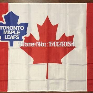 Toronto Maple Leafs Canada Flag 150X90CM  NHL 3X5 FT Banner 100D Polyester flag grommets9, free shipping