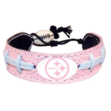 Pittsburgh Steelers Official NFL Pink Bracelet
