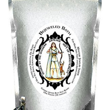 Goddess Artemis Sacred Sage Essential Oil Bath Salts & Jewelry Inside