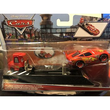 Cars Diecast 1:55 Scale Disney Cars Launchers Lightning Mcqueen
