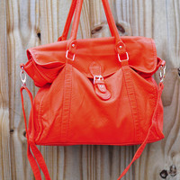 Her Orange Obsession Purse: Suede | Hope's