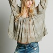 Free People Womens FP ONE String Me On Blouse