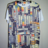 VDO Cassettes Vintage Shirt Art Shirt Screen Printed by PStopshop