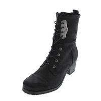 Diesel Womens Suede Lace-Up Motorcycle Boots