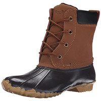 Western Chief Womens Four Eye Duck Waterproof Lace Up Snow Boots